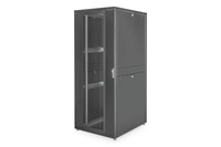 "ARMADIO RACK 19"" 42 UNITA' LINEA SERVER (A)1970 x (L)800 (P)1000MM. COLORE NERO CON PORTA TRAFORATA E RUOTE"
