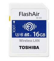 Memory Card SD 16GB Toshiba SDHC FlashAir W-04/Wireless Class10 retail
